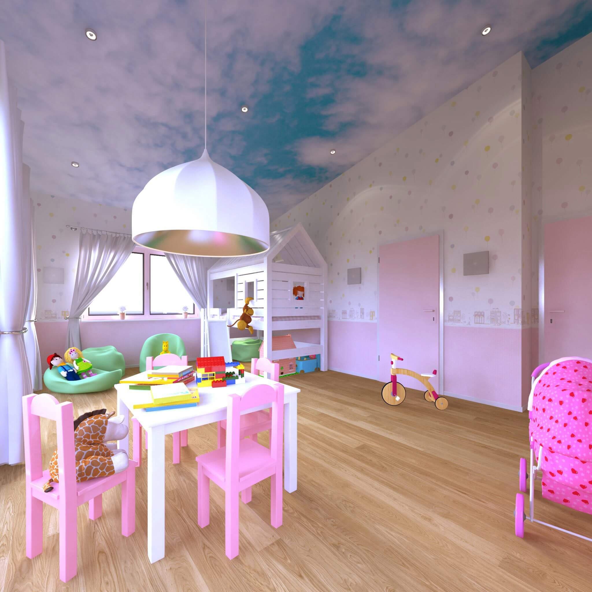 """Kinderzimmer """"Stimmungsvoll Wohnen"""" ist das Credo des Wohnungsplaner, der vom Magazin SCHÖNER WOHNEN zu den einflussreichsten Designern ernannt wurde. Seine Vorstellung von Innenarchitektur hat sich in den letzten Jahren noch direkter zur Emotionalität bekannt und diese vor allem durch den professionellen Entwurf des Lichtdesign herausragend umgesetzt. Designbäder, die Ihr Bad exklusiv mit einer Design Badewanne in ein Home Spa verwandeln, profitieren dabei von der Beleuchtung indirekt mittels einer Voute, genauso wie das elegante Herrenzimmer, die professionelle Studierzimmer Einrichtung oder das verspielte Kinderzimmer."""