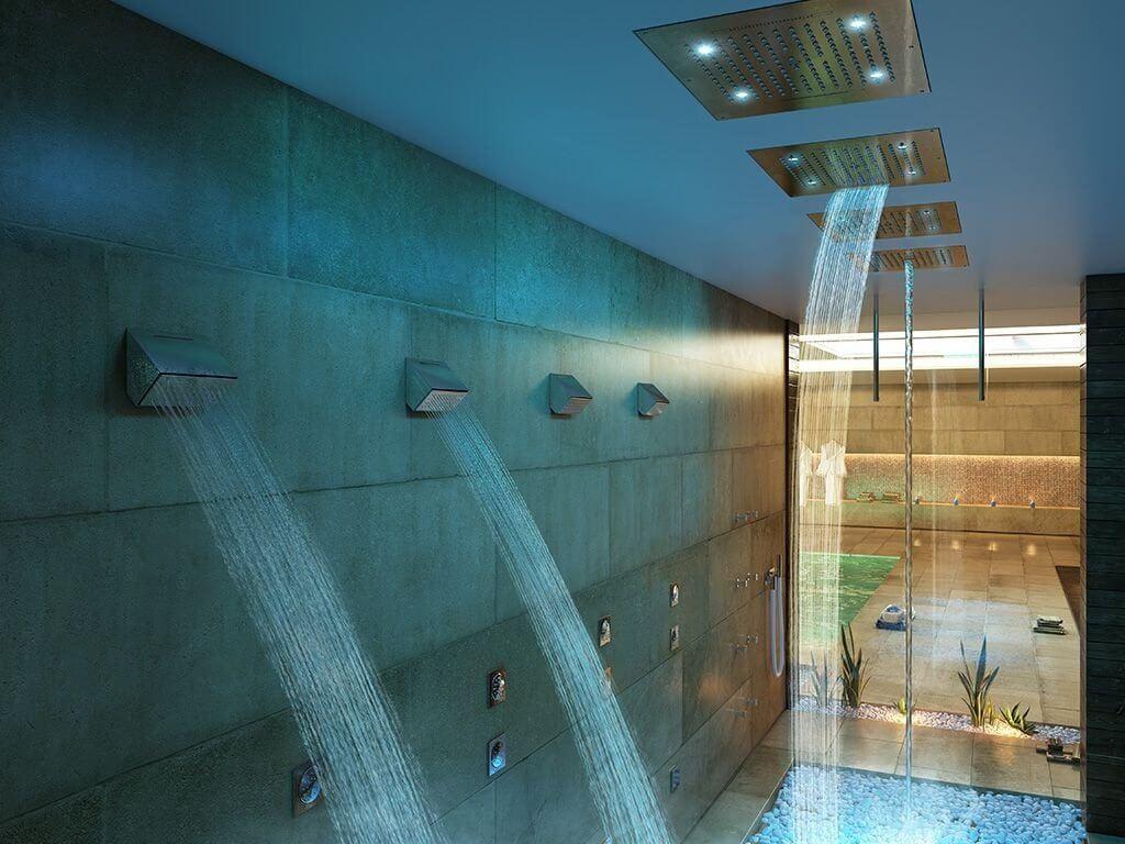 Regendusche mit der richtigen dusche fängt der tag richtig an ✓