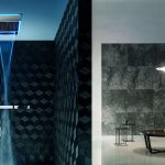 Regendusche Mod Acquadolce design Franco Sargiani Eine Kollektion von multifunktionalen Duschen, die höchsten Komfort durch vielfache Funktionen für alle Sinne bieten.