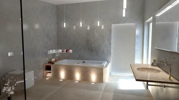 3d visualisierung f r bad spa und interior design - Lichtplanung badezimmer ...
