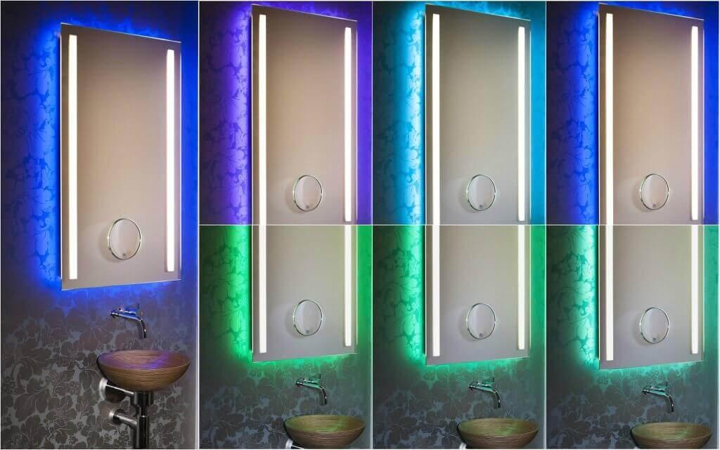 Spiegel und Lichtdesign wird neu definiert Sensationelle Innovation: Der neue Multicolor-Lichtspiegel des Designers Torsten Müller