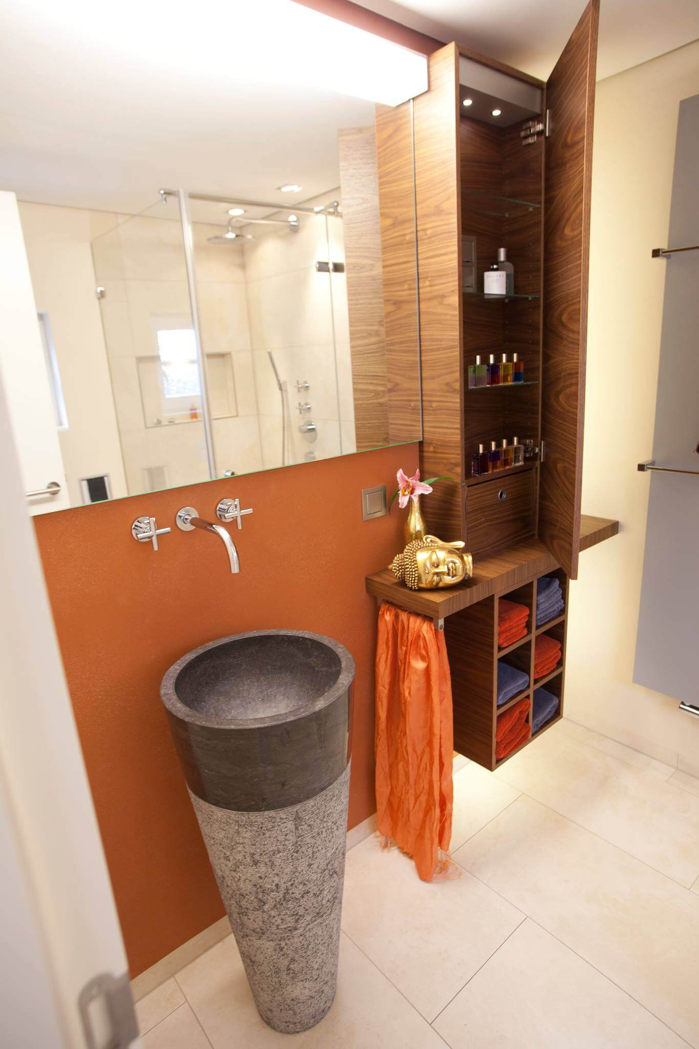 Waschtischsäule Naturstein,Handwaschbecken Stand,Waschbecken,torsten müller designer gästebad