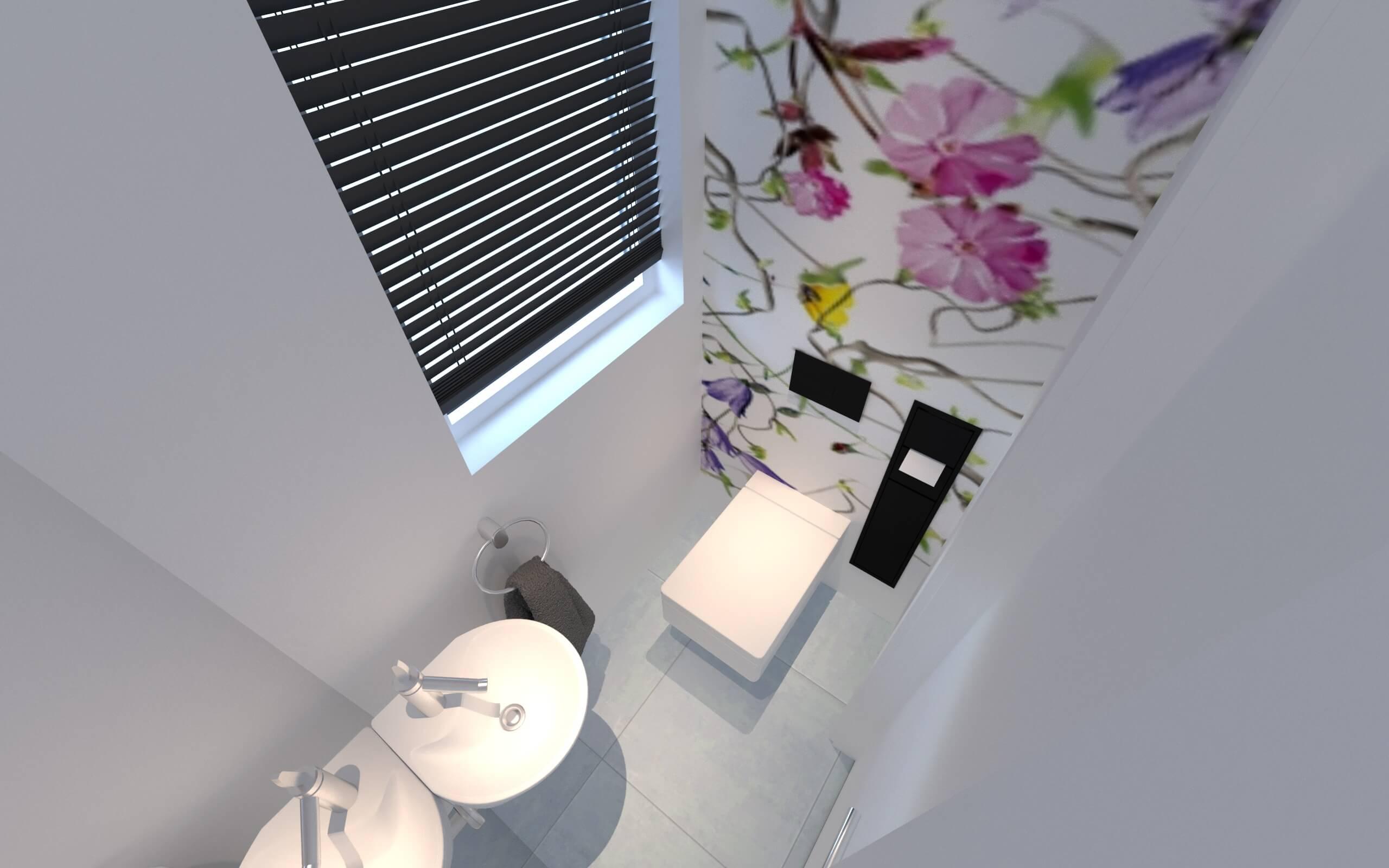 Gestaltung der Gästetoilette