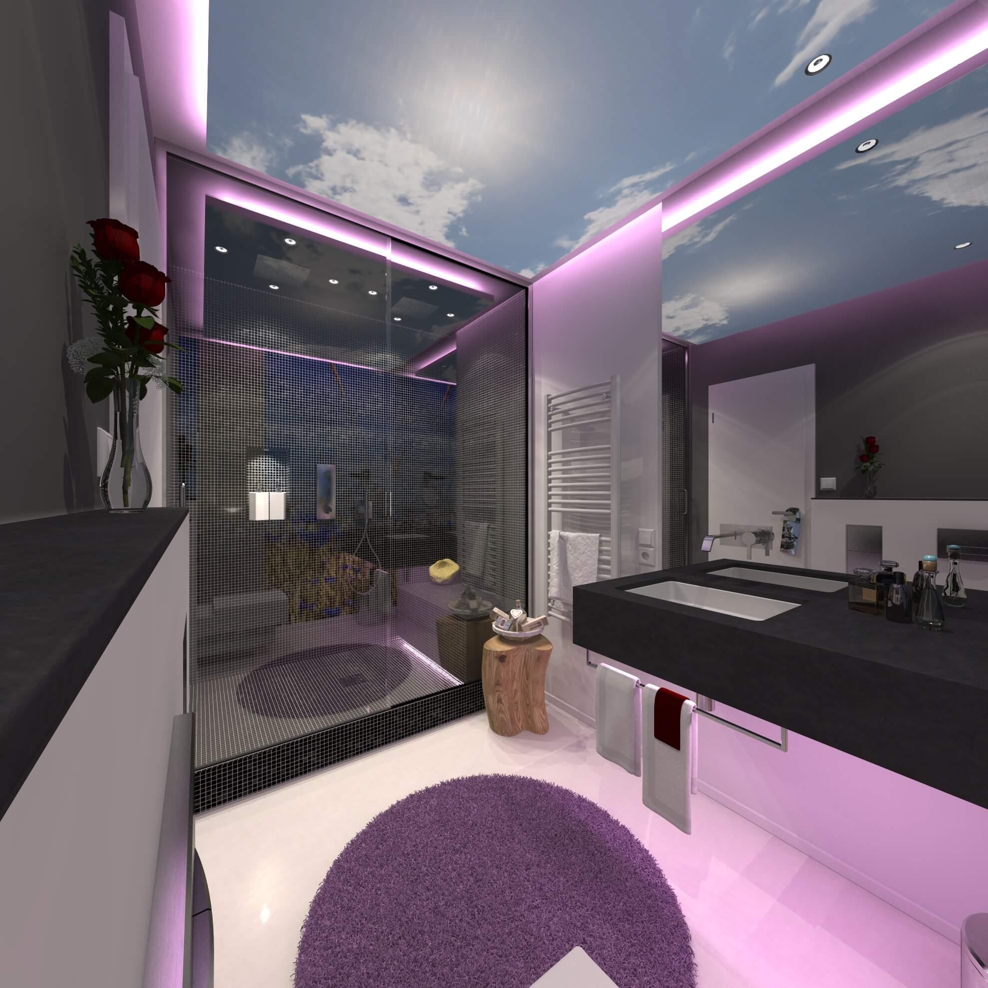 Badkonzept für ein Hotel