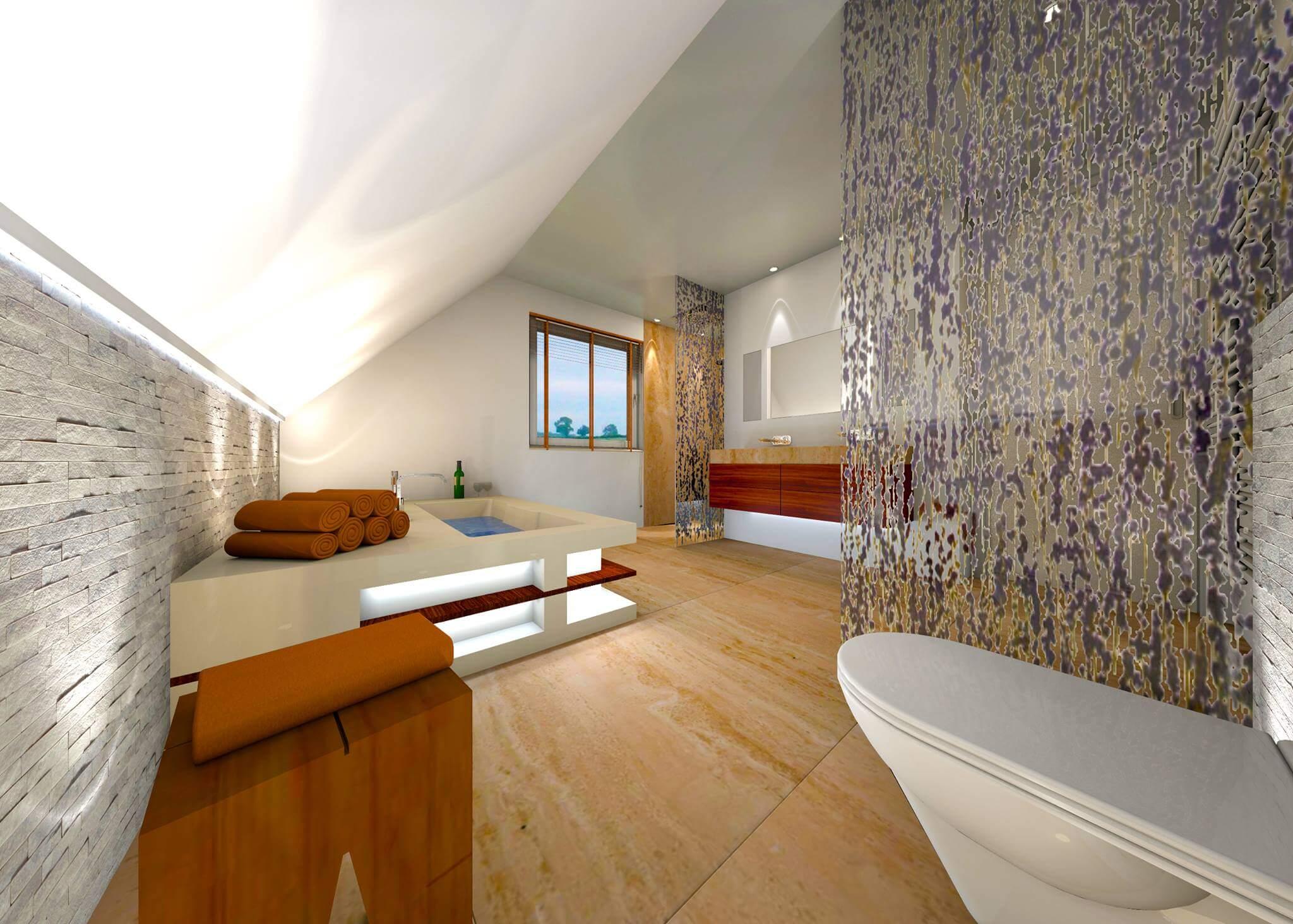 badrume mit schrgen verwandeln wir in ihr traumbad design by torsten mller - Ideen Badezimmergestaltung