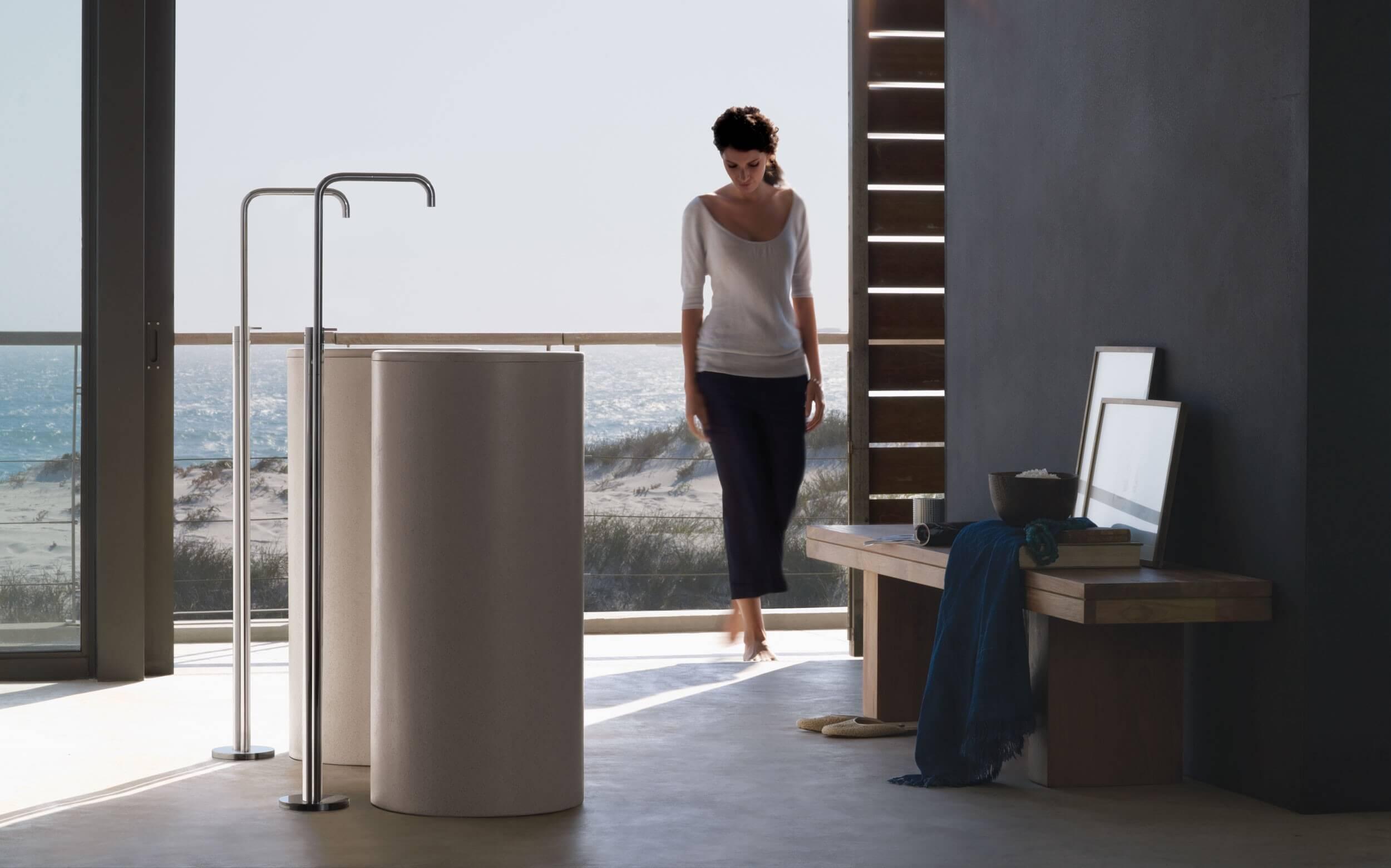 Arne Jacobsen, armaturen, armatur, wasserhahn, badezimmereinrichtung, design, Zubehör, Hochwertige Duschen VOLA.