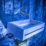 Waschbecken-Innovation aus Naturstein mit dem Designer Torsten Mueller aus Bad Honnef naehe Koeln Bonn