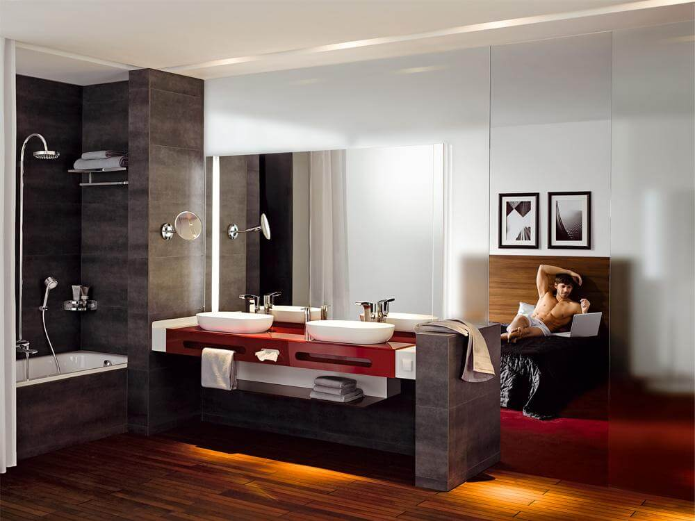 baddesign und schlafzimmer vereint geht das tipps wie es. Black Bedroom Furniture Sets. Home Design Ideas