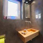 """Was braucht eine Gästetoilette um zu Wirken und die Hausherren im besten Lichte da stehen zu lassen Wie kann auf dem Gäste WC - Natur im Raum erlebt werden?Der Kundenwunsch """"Bitte ein wenig High-Tech-Feeling"""" (smart home)"""