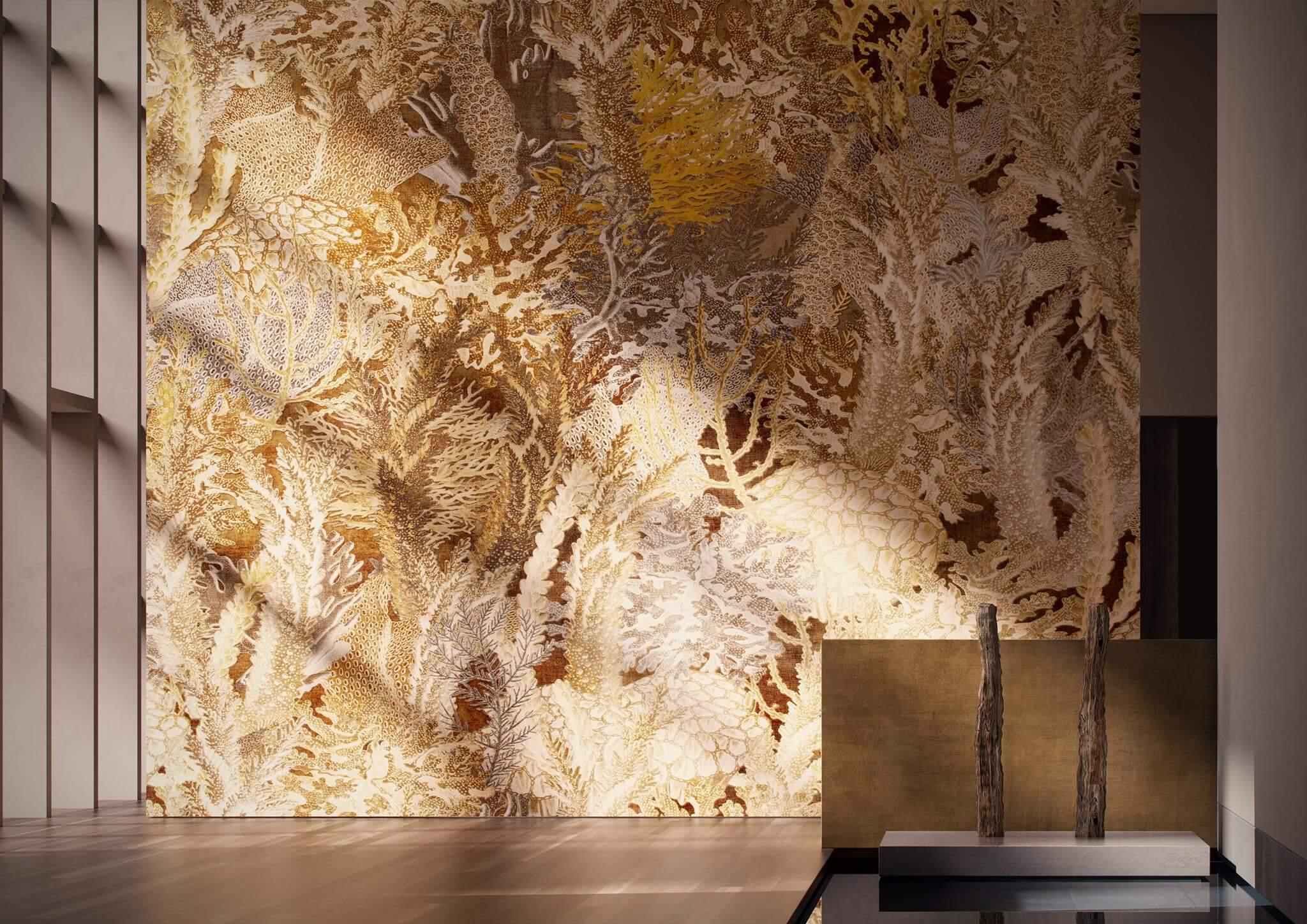 Cersaie 2017 Designexperte Torsten Mueller Baddesign Lifestyle Schoener Wohnen Trends News Wandtapete Glamora CORAL Reef Collection