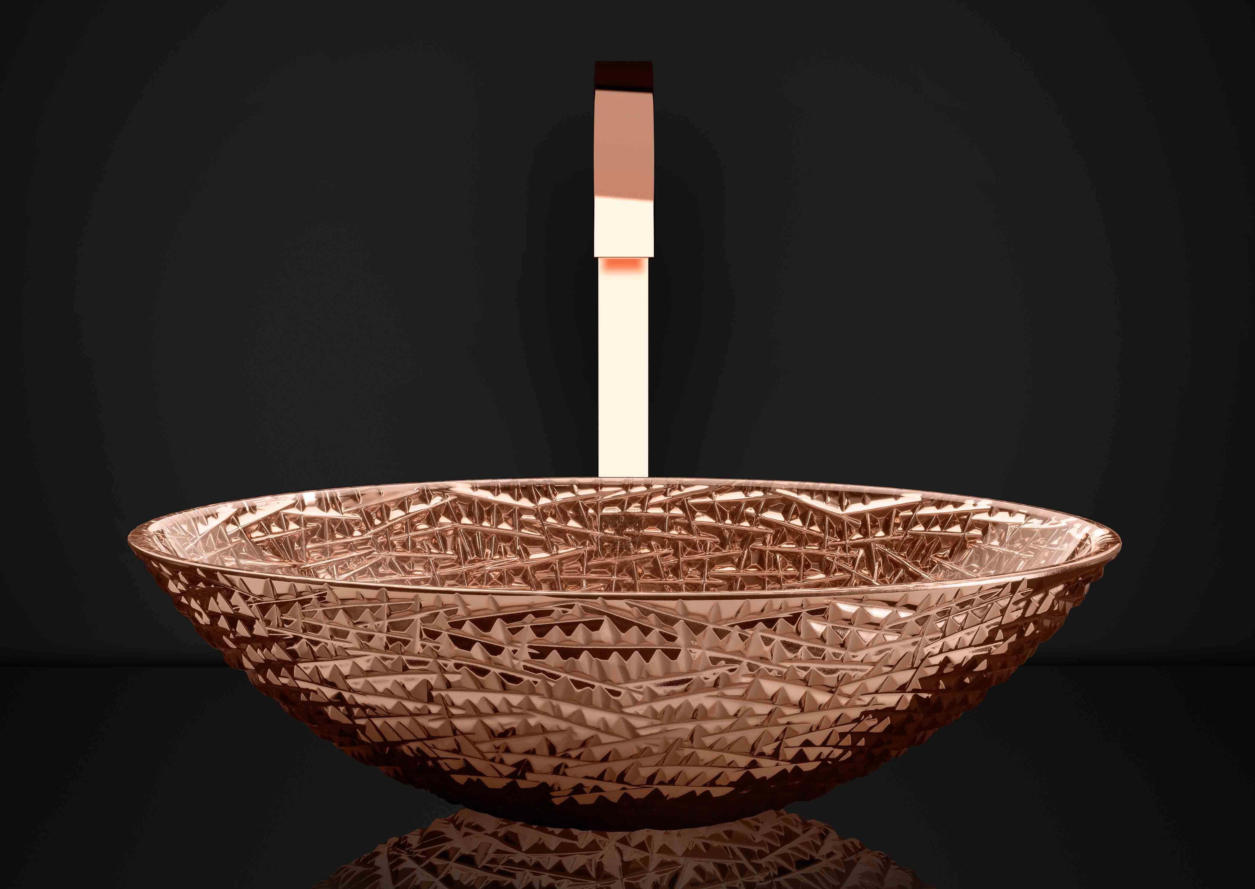 Das bronze Waschbecken von myGlassDesign