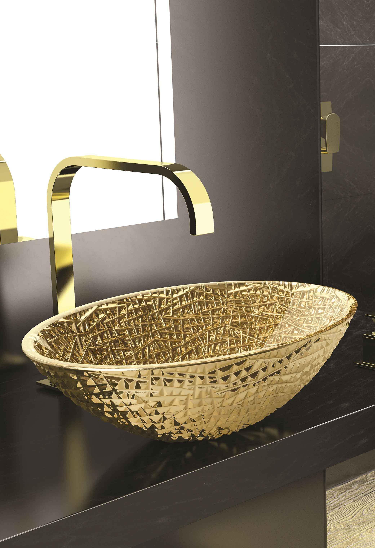 Wunderbar Ausgefallene Waschbecken Foto Von Das Goldene Von Myglassdesign