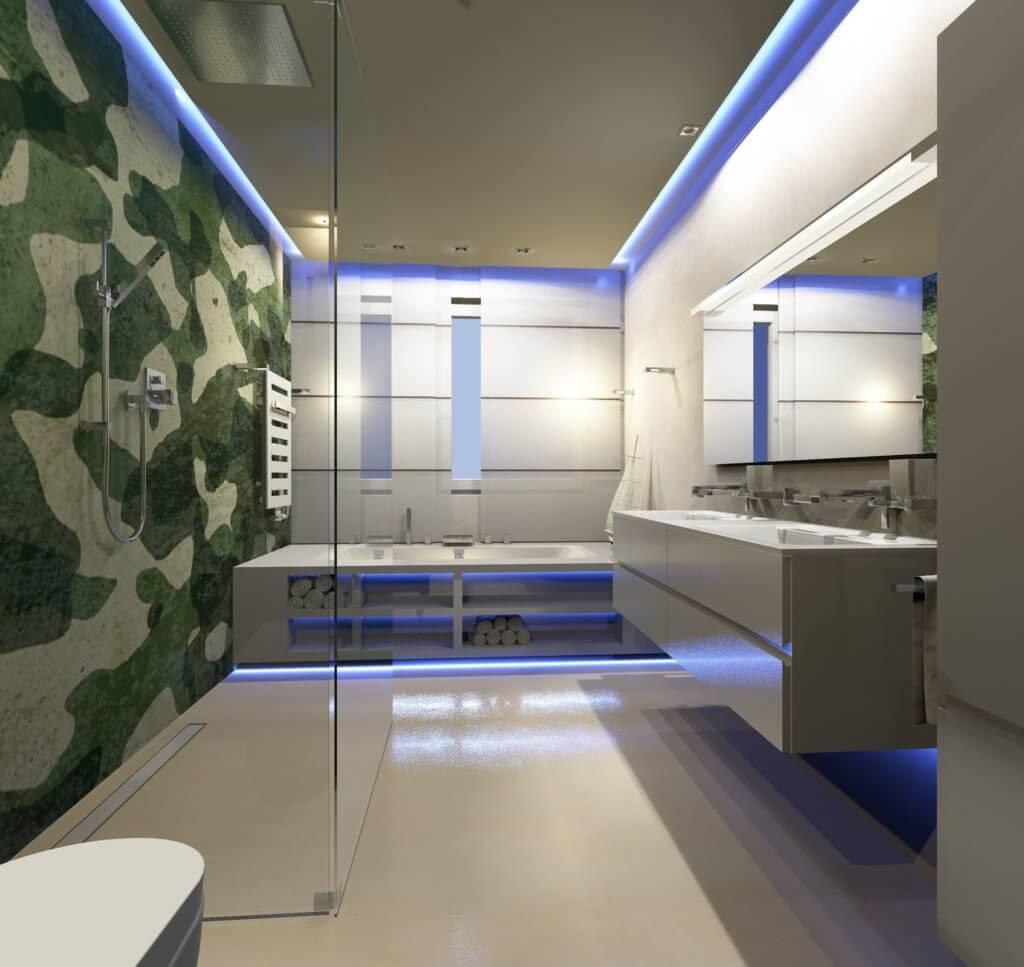 Kleine exklusive b der mit dem designer torsten m ller for Badezimmer aufteilung beispiele
