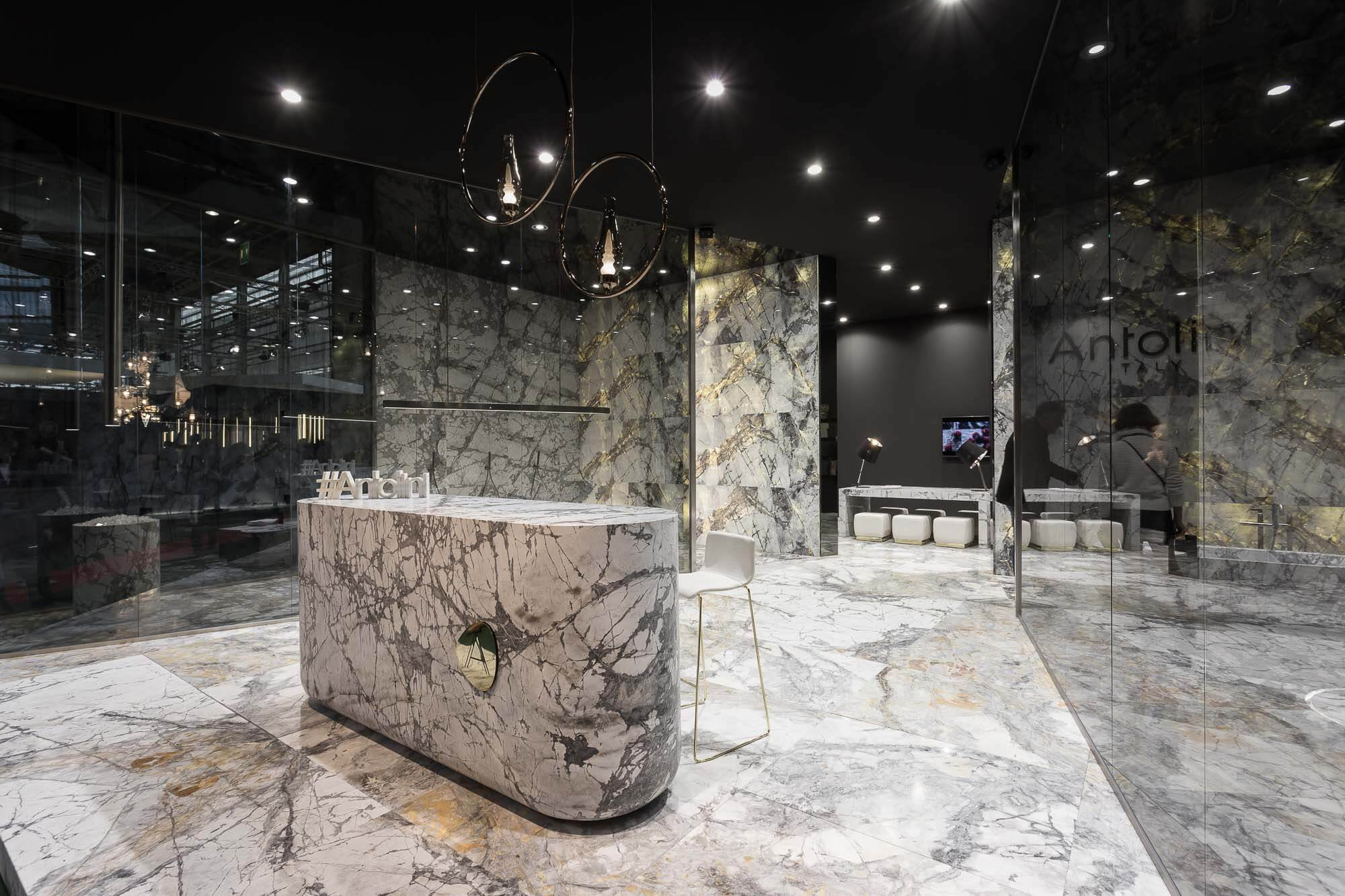 Taktile Raffinesse mit einem Wellness-Akzent: Antolini Naturstein präsentiert auf der Maison & Objet 2018