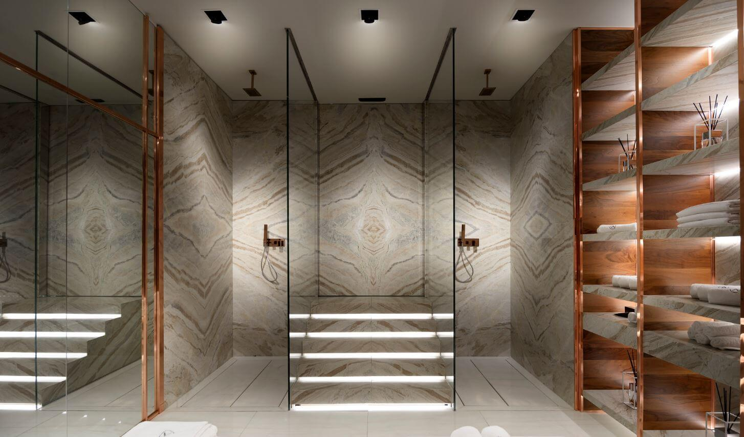 Antolini Natursteine in Bad und Spa Design Salone del Bagno