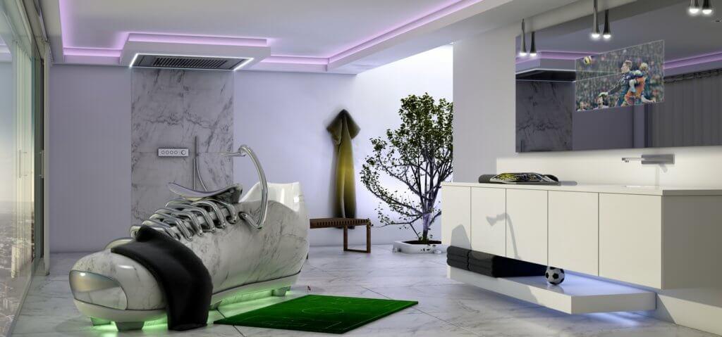 Premium Badezimmer Coole Idee zur WM 2018 – lege dich entspannt in einen Fußballschuh Badewanne Planung Verkauf Beratung Torsten Mueller Bad Honnef (9)