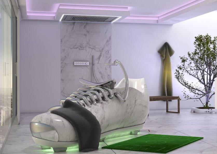 Premium Badezimmer Coole Idee zur WM 2018 – lege dich entspannt in einen Fußballschuh Badewanne Planung Verkauf Beratung Torsten Mueller Bad Honnef Koeln (3)