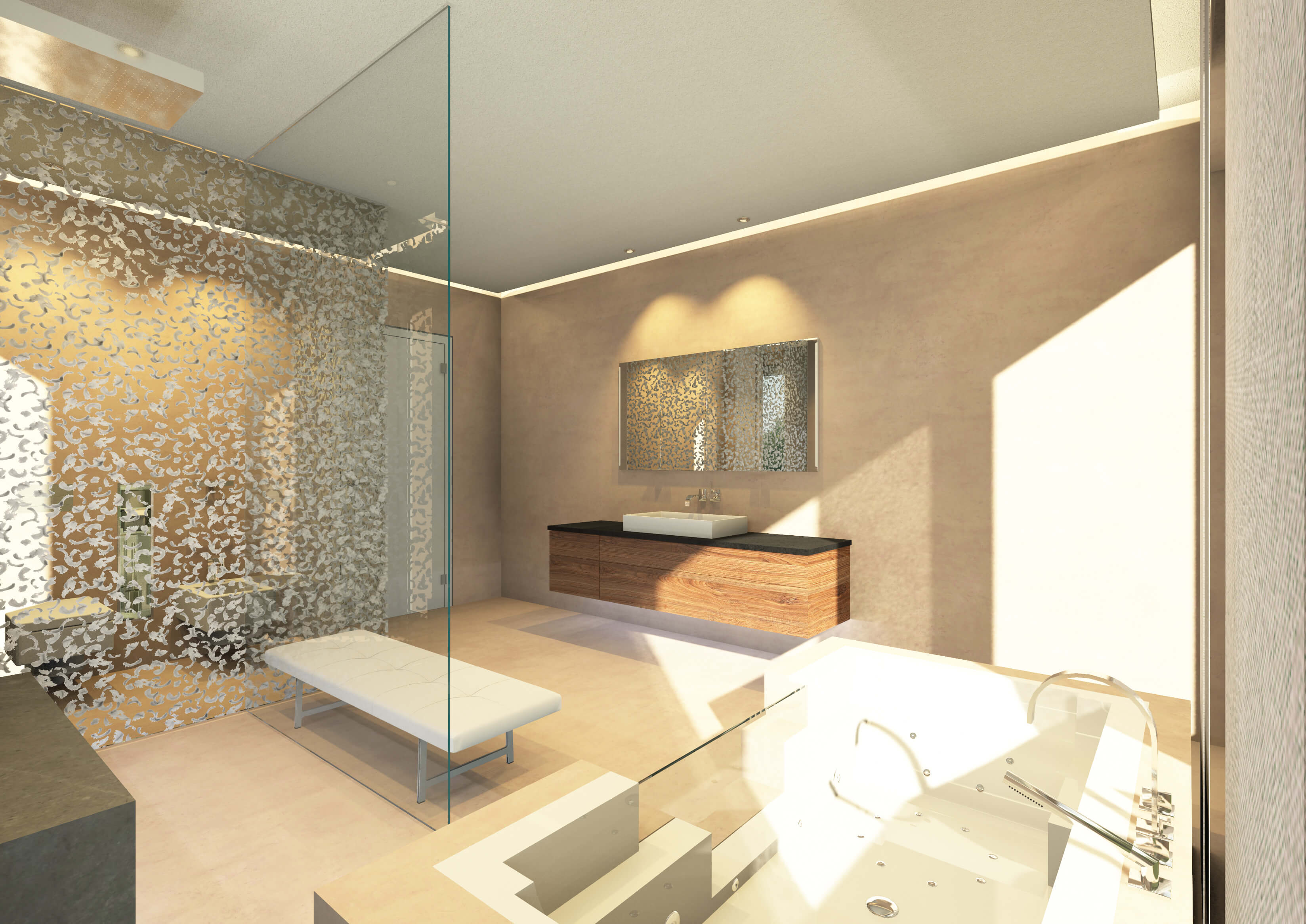 Badezimmer Design. Beautiful Badezimmer Design Glamours Kleine ...