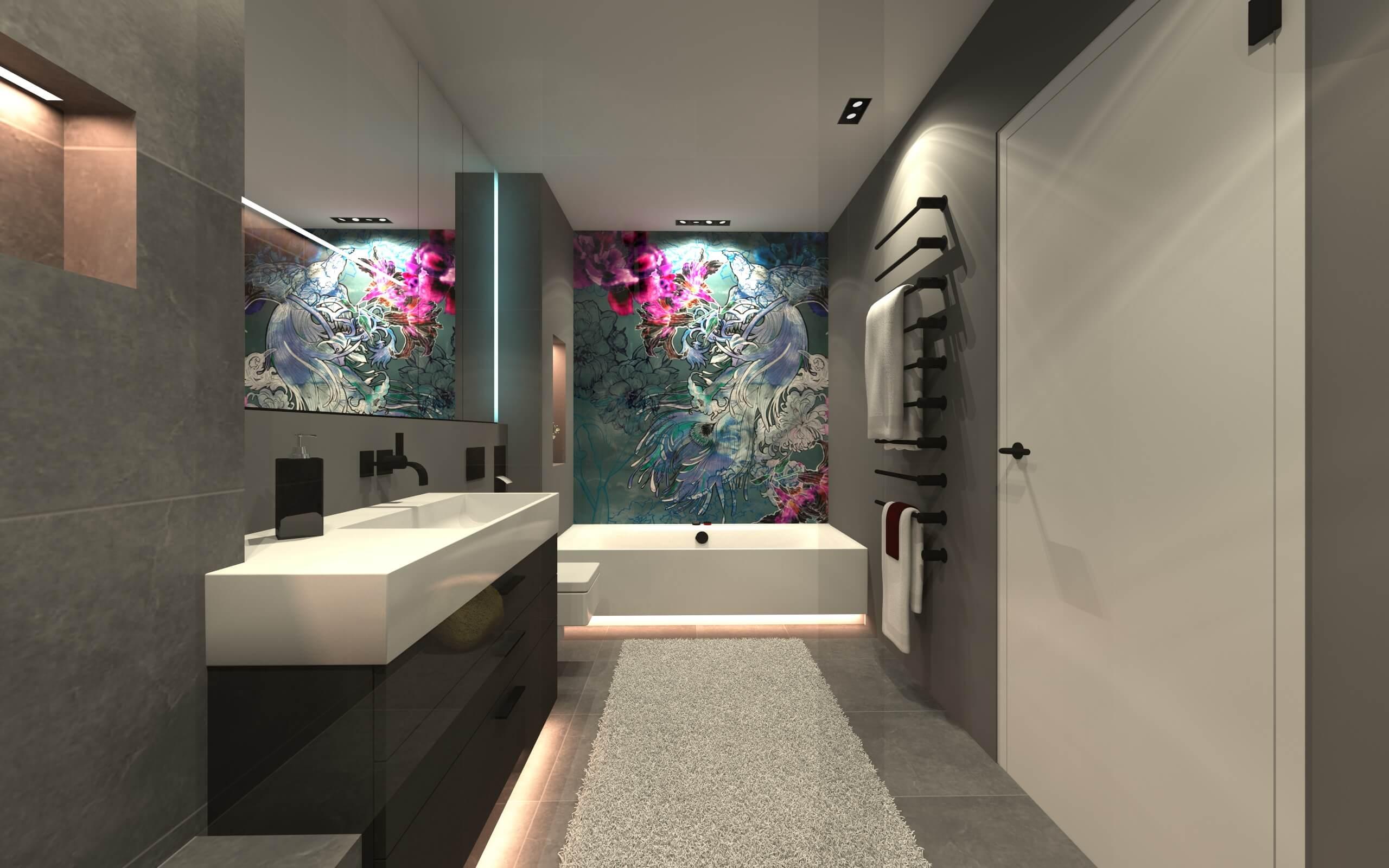 Wall and Deco Wet System: Tapeten für Luxusbadezimmer