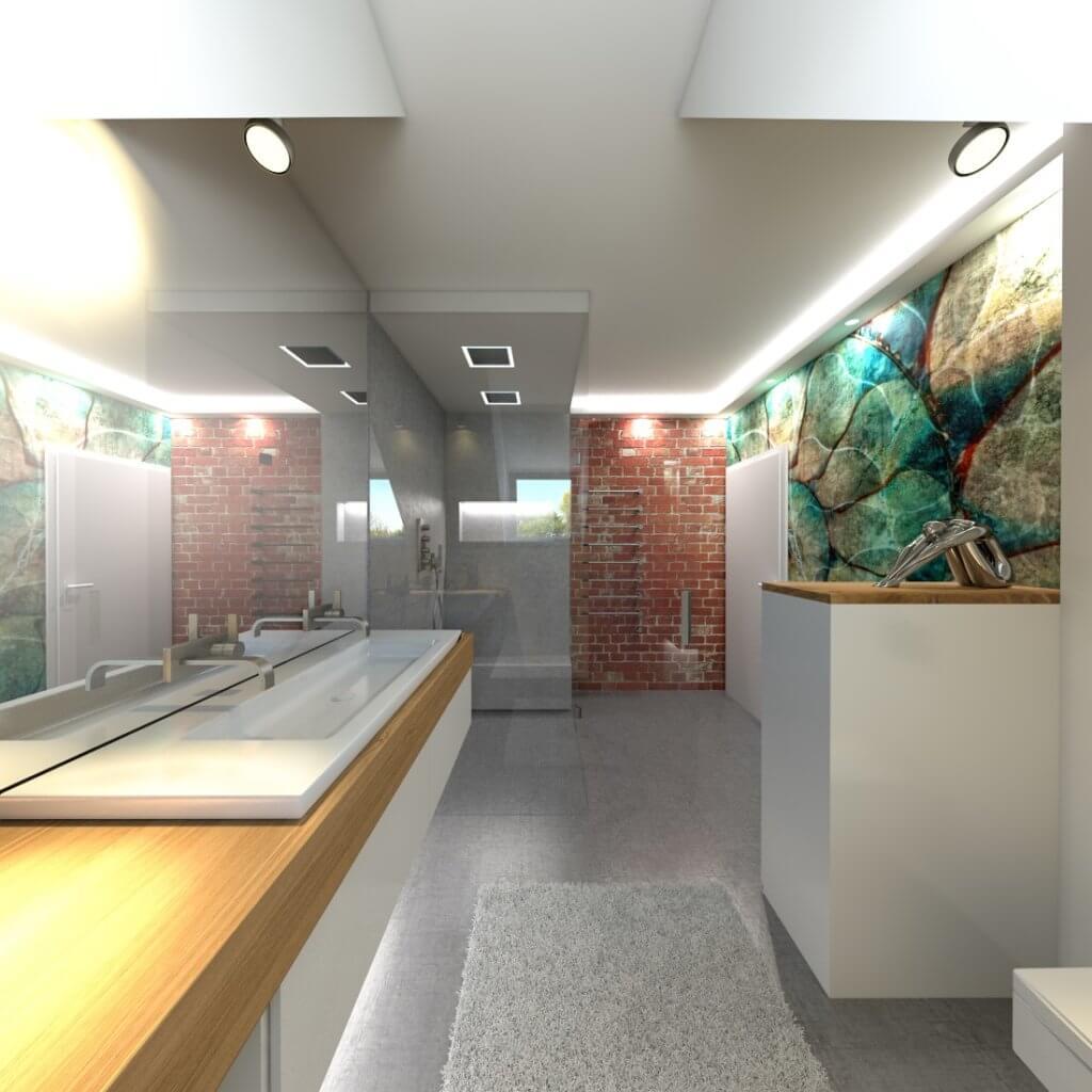 Designer Torsten Müller mit einem Badezimmer Design in einer Dachschrägen