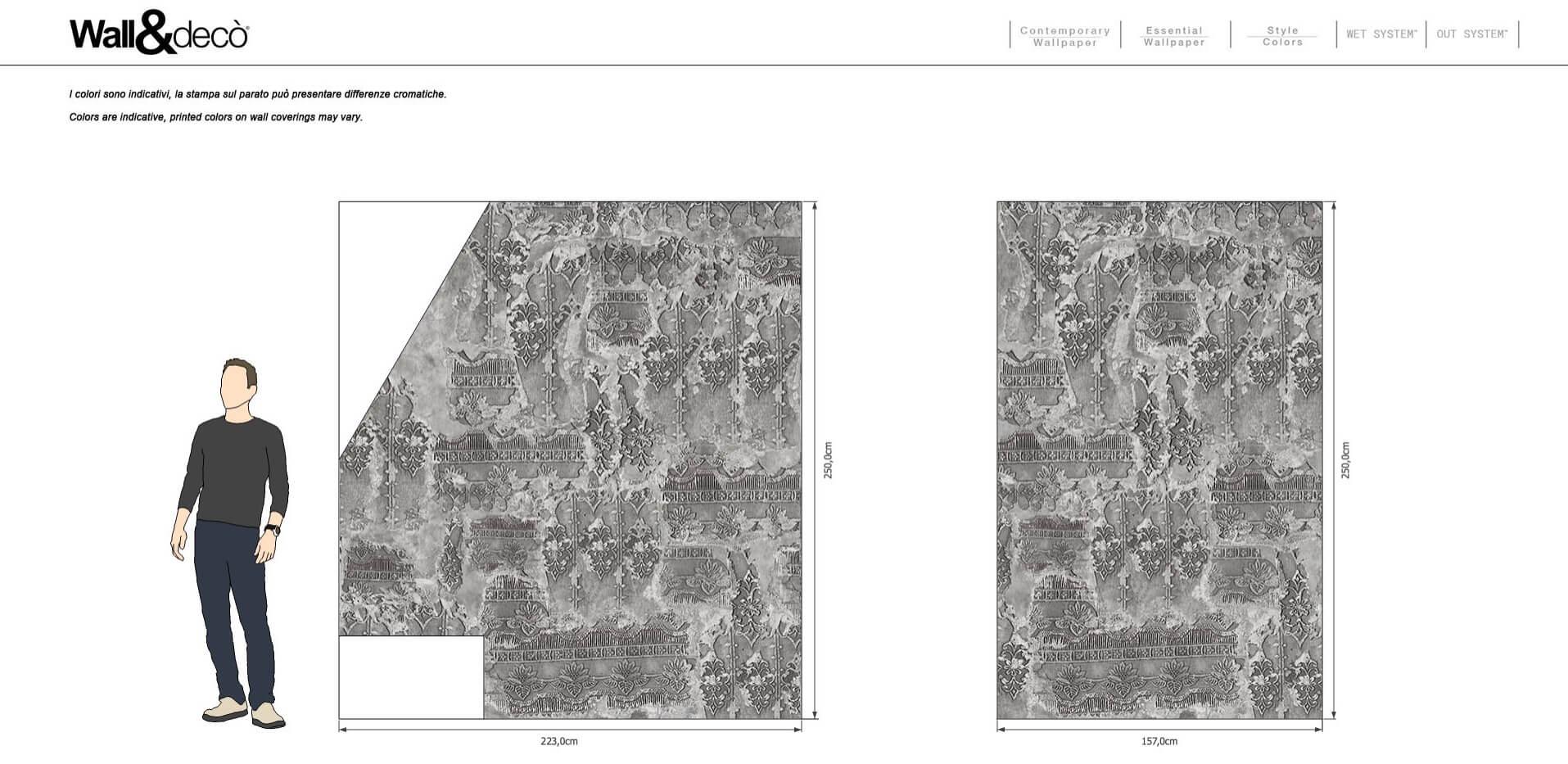 Es handelt sich um eine Tapete mit Patentanmeldung für Bad, Dusche und feuchte Räume, das die Imprägnierung der flüssigen Membranen mit der äußerst dekorativen Wirkung der Tapete Wall&decò kombiniert. WET SYSTEM™ eignet sich für Anwendungen auf Wandflächen aus Putz, Beton, Gipskarton, Glas und Keramikfliesen und ist beständig gegen.