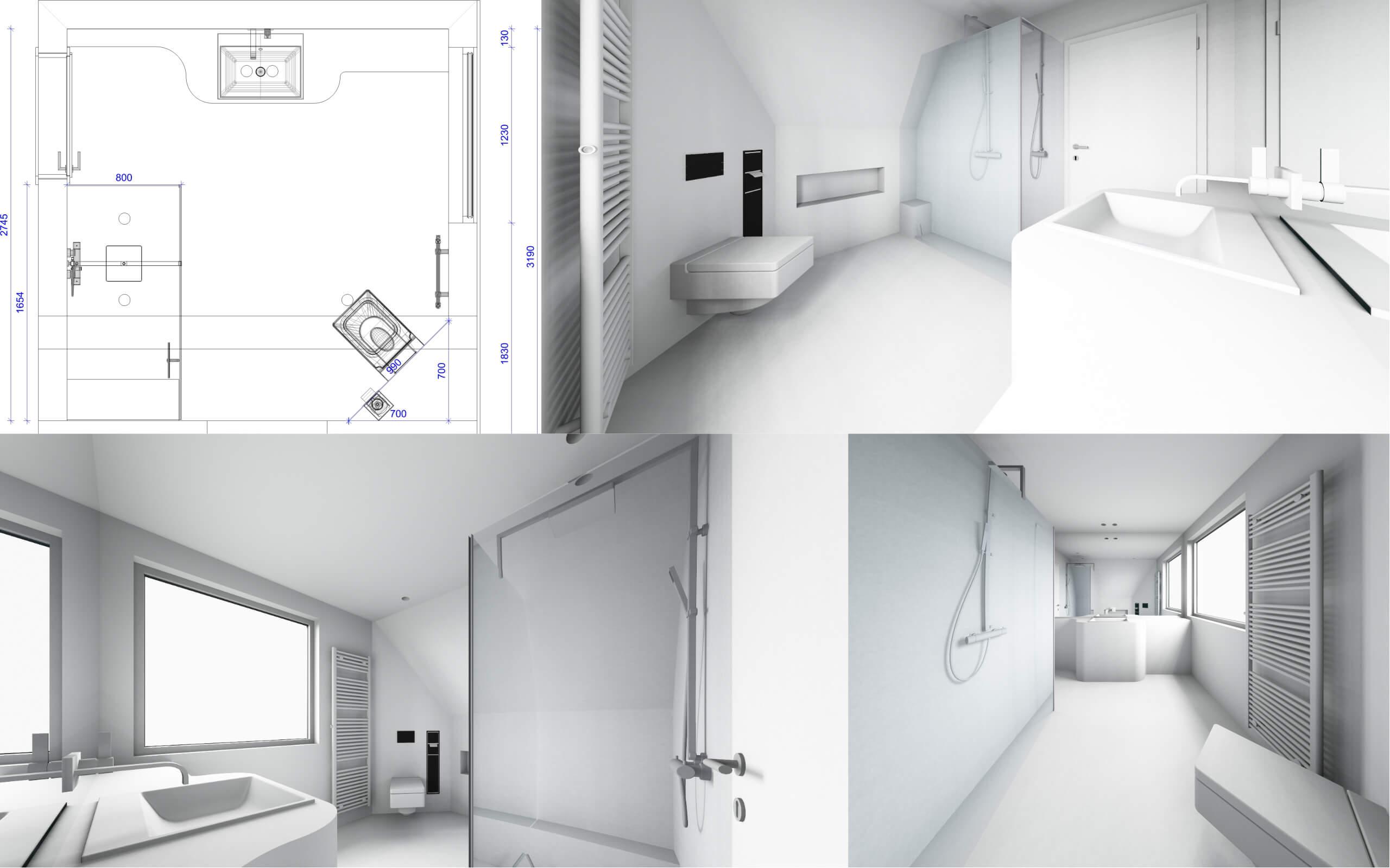 Badplaner Designer Torsten Müller 3D Visualisierung Konzepte Badezimmer Design Bonn Köln Bad Honnef
