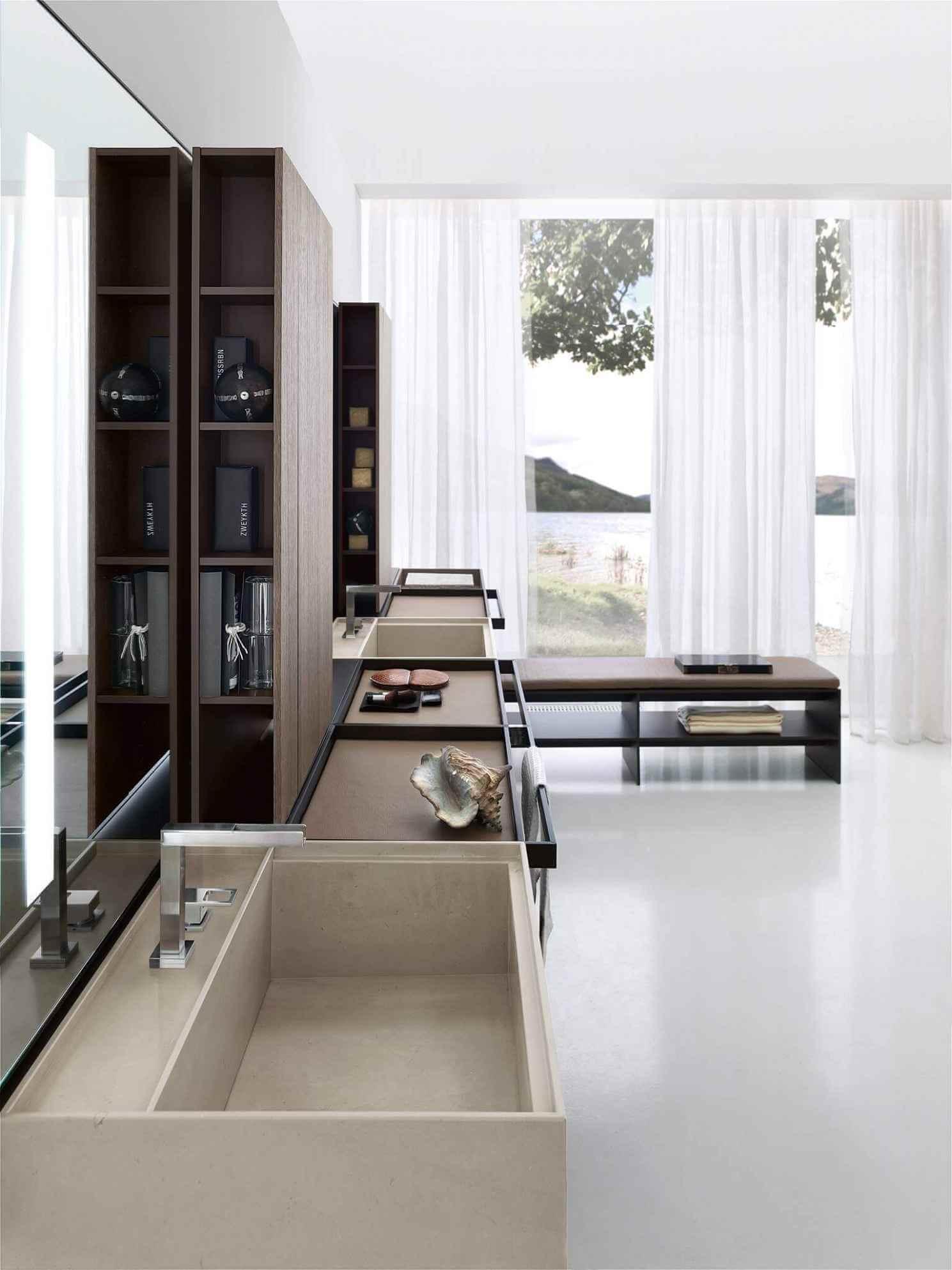 Mehr als nur ein Badezimmer hier ist das Baddesign an das Schlafzimmer angebunden