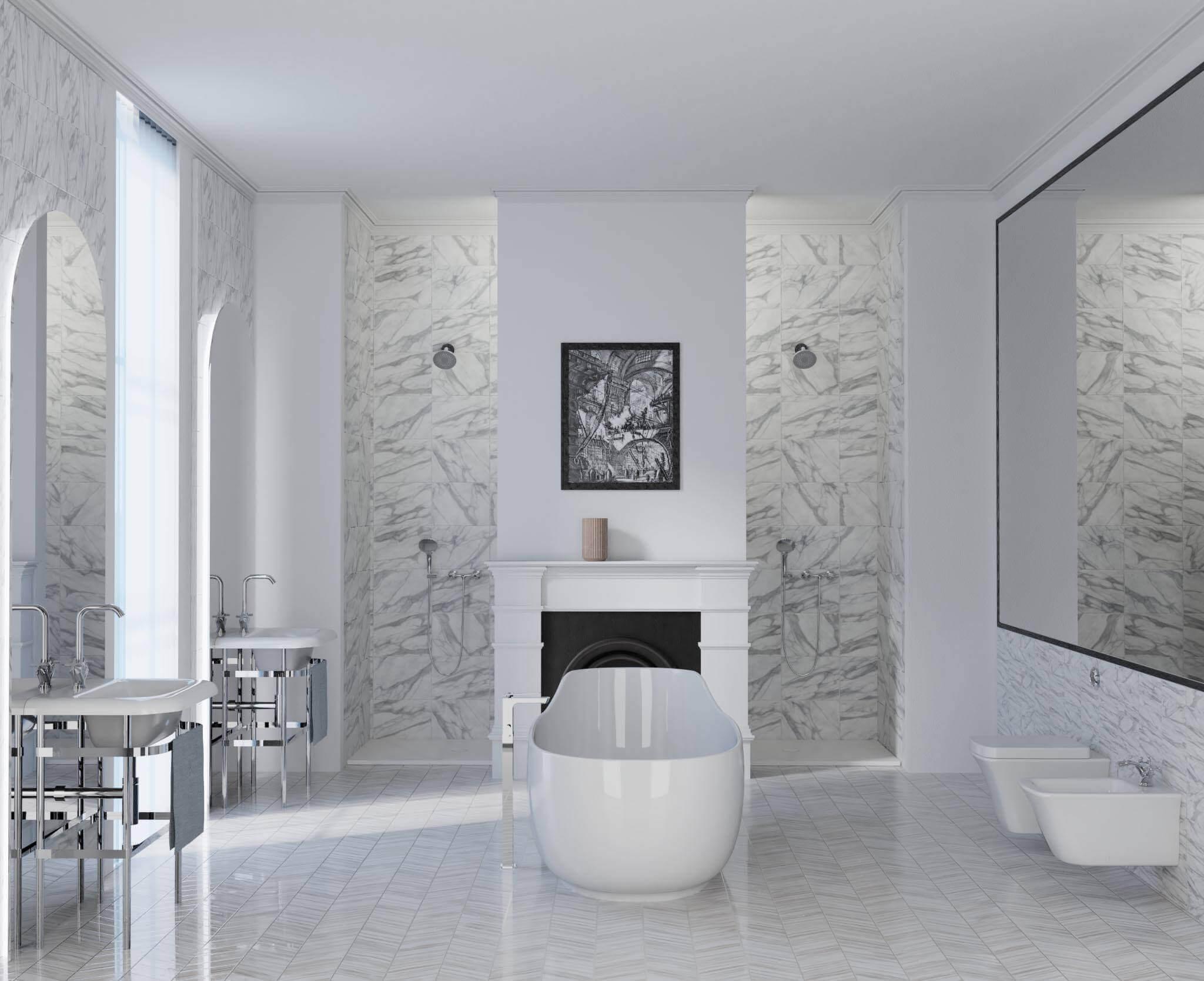 Consulting by Torsten Müller zeigte im vergangenen Jahr, wie die Trendfarbe Weiß immer wieder neu und überraschend im Badezimmer eingesetzt werden kann