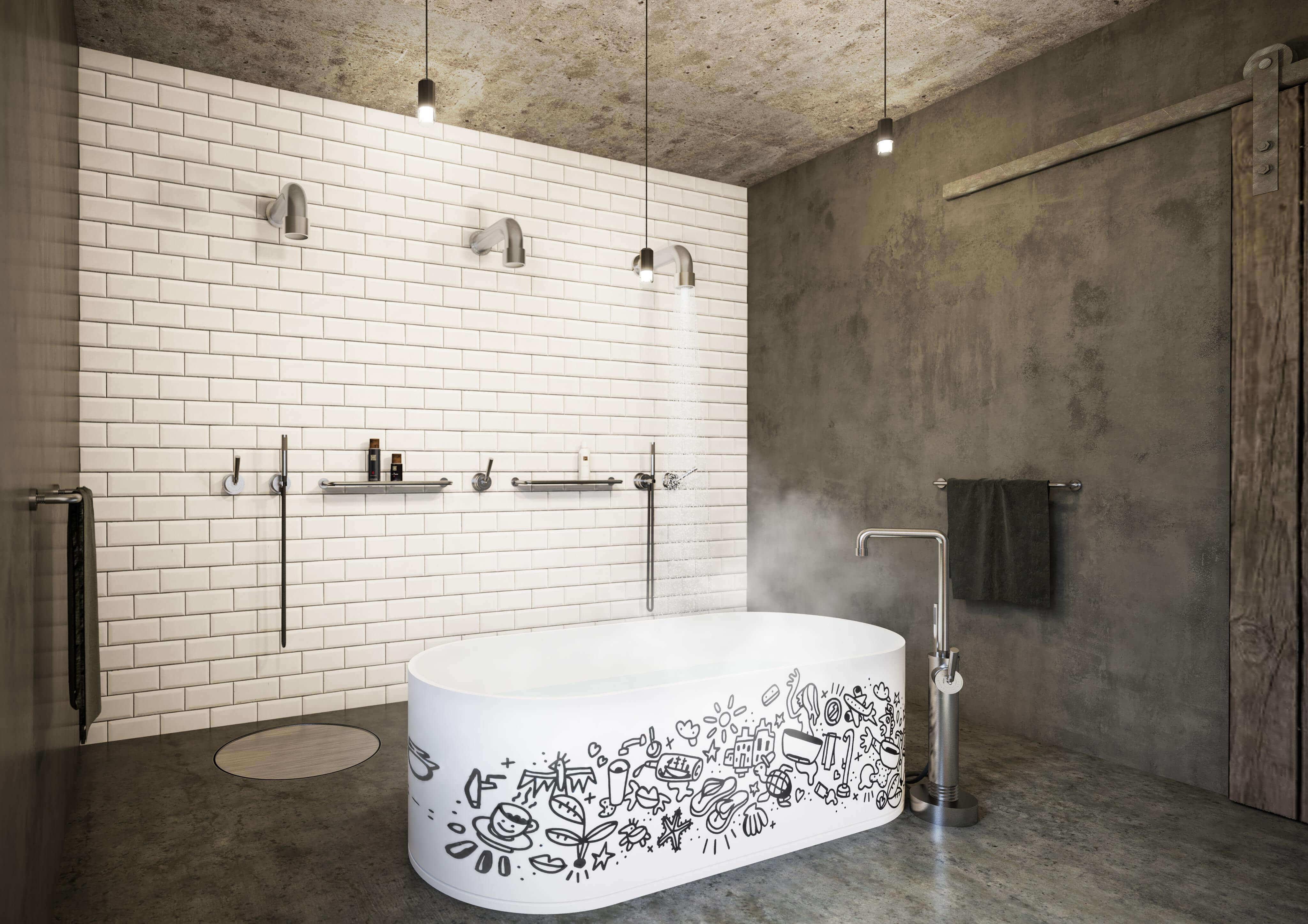 """Ein Designerbad muss nicht immer den gängigen Normen entsprechen, sondern kann ruhig die Grenzen der Vorstellung von """"Exklusivität"""" brechen"""