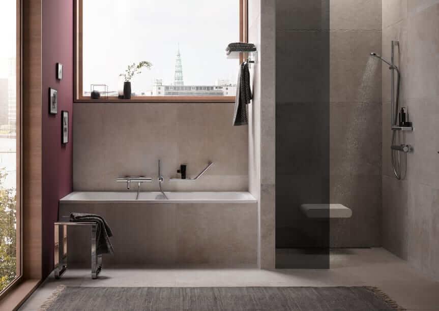 Die Königsklasse im Interior Design: Farbharmonien sorgen für Atmosphäre im Bad. (Foto: Keuco)