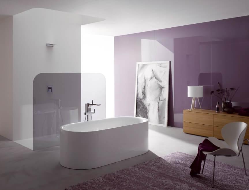 Pastelltöne liegen im Einrichtungsbereich im Trend – Mint, Rosa oder ein helles Blau wirken freundlich und setzen farbige Akzente. Mit pastelligen Badezimmern schafft man sich eine schöne, neue Welt, mal poppig, mal verträumt. (Foto: Bette)