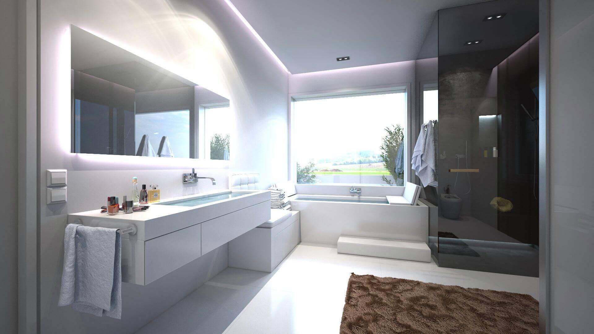 Tipps vom Designer: Badezimmer vergrößern mit dem Bodenbelag