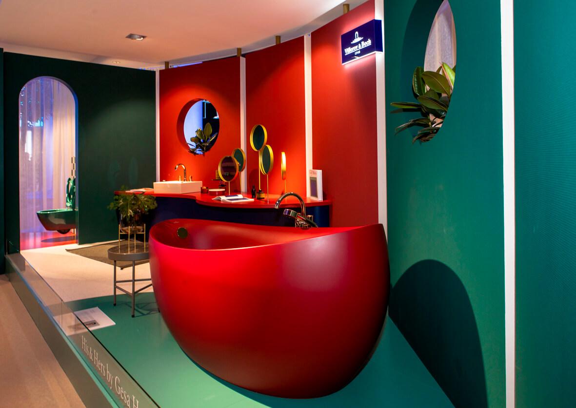 Knallige Farben gezeigt von Villory & Boch Design Gesa Hansen