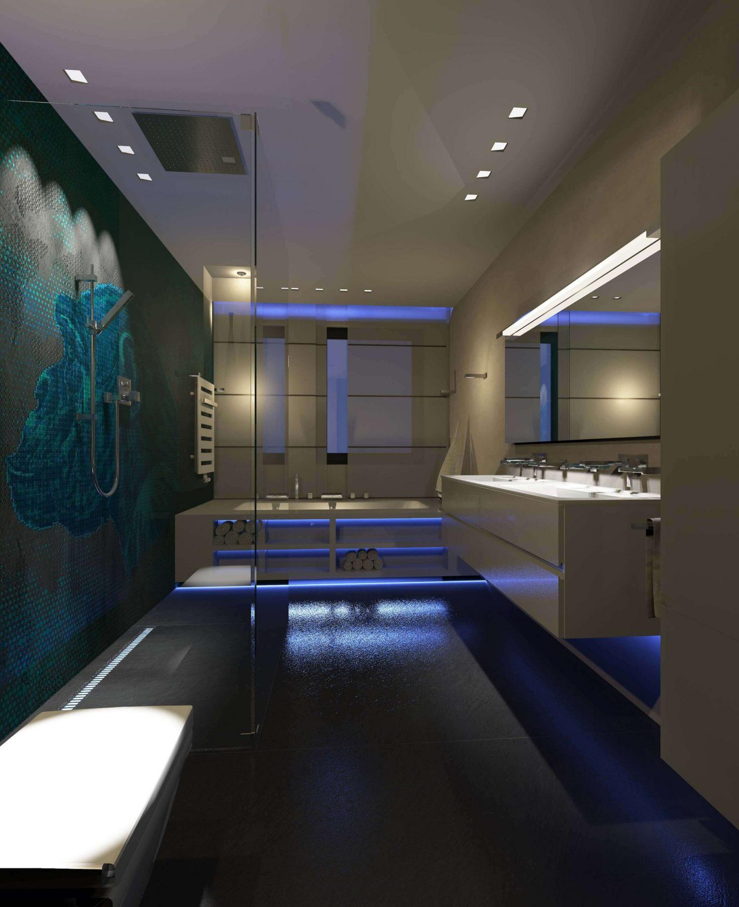 Designer Badezimmer Stil im Bad aus professioneller Hand   design ...